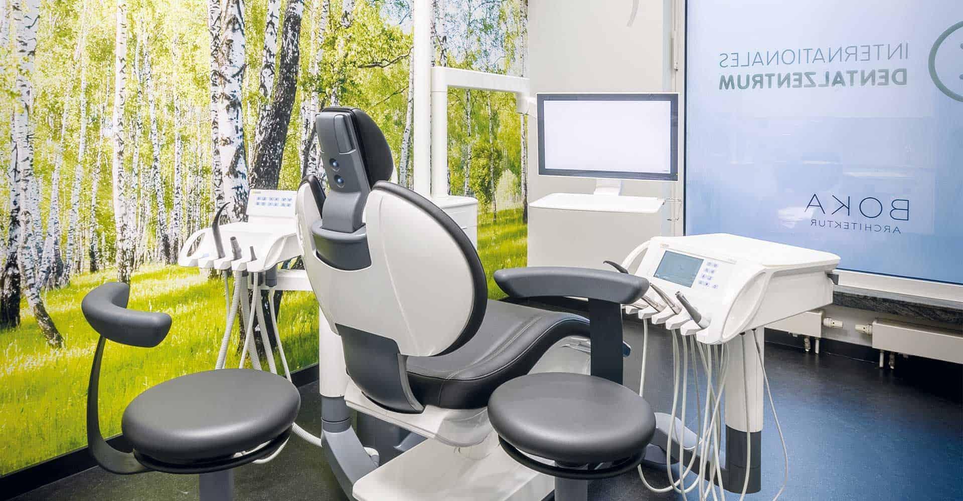Internationales Dentalzentrum, Dr. A. Bittner, Dresden, Innenausbau, Praxis, GERL Dental, Praxisgemeinschaft, Architektur, GU-Leistung, Maler, Boden, Fliese, Trockenbau, 250 qm