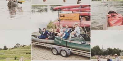 BOKA Architektur - unser Kompetenzteam! Gemeinsamer Bootsausflug auf der Elbe.