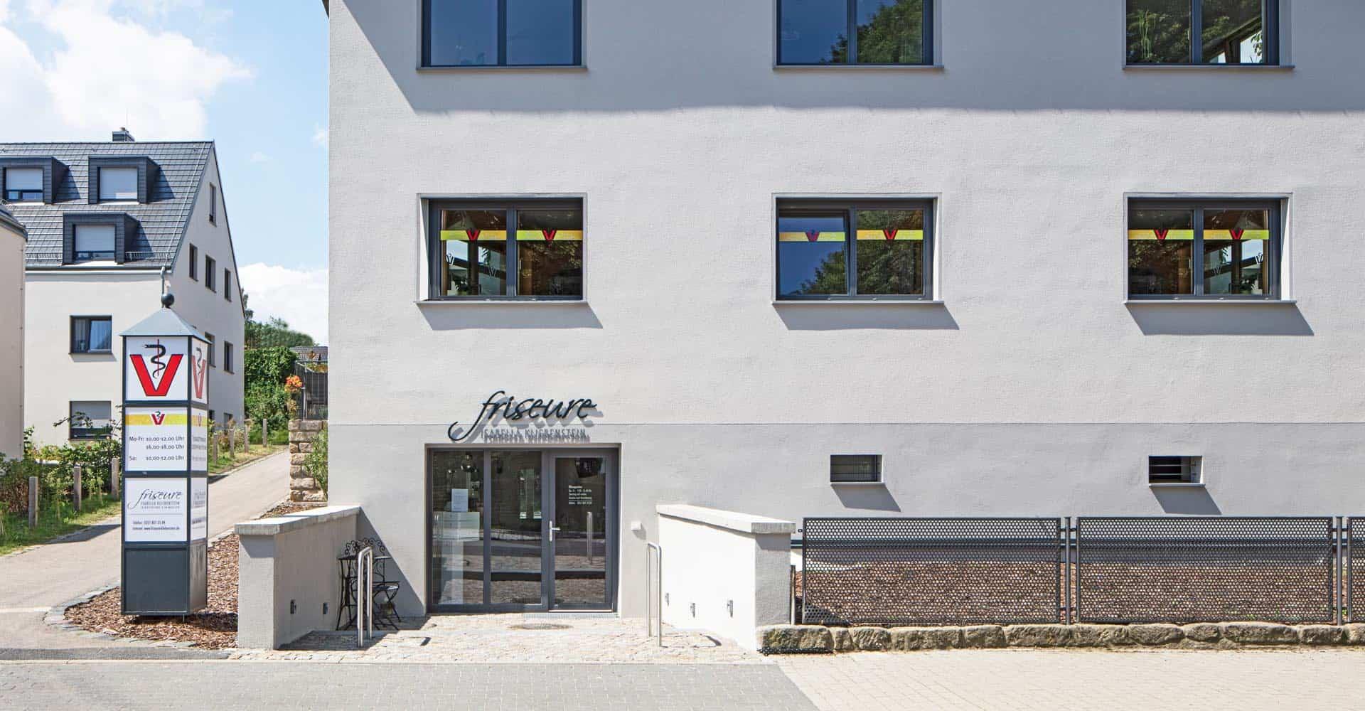 Friseursalon, Kliebenstein, Räume, 38 qm, Dresden, Altfranken, Haare, Architektur, Innenausbau, Maler, Boden, Fliese, Trockenbau