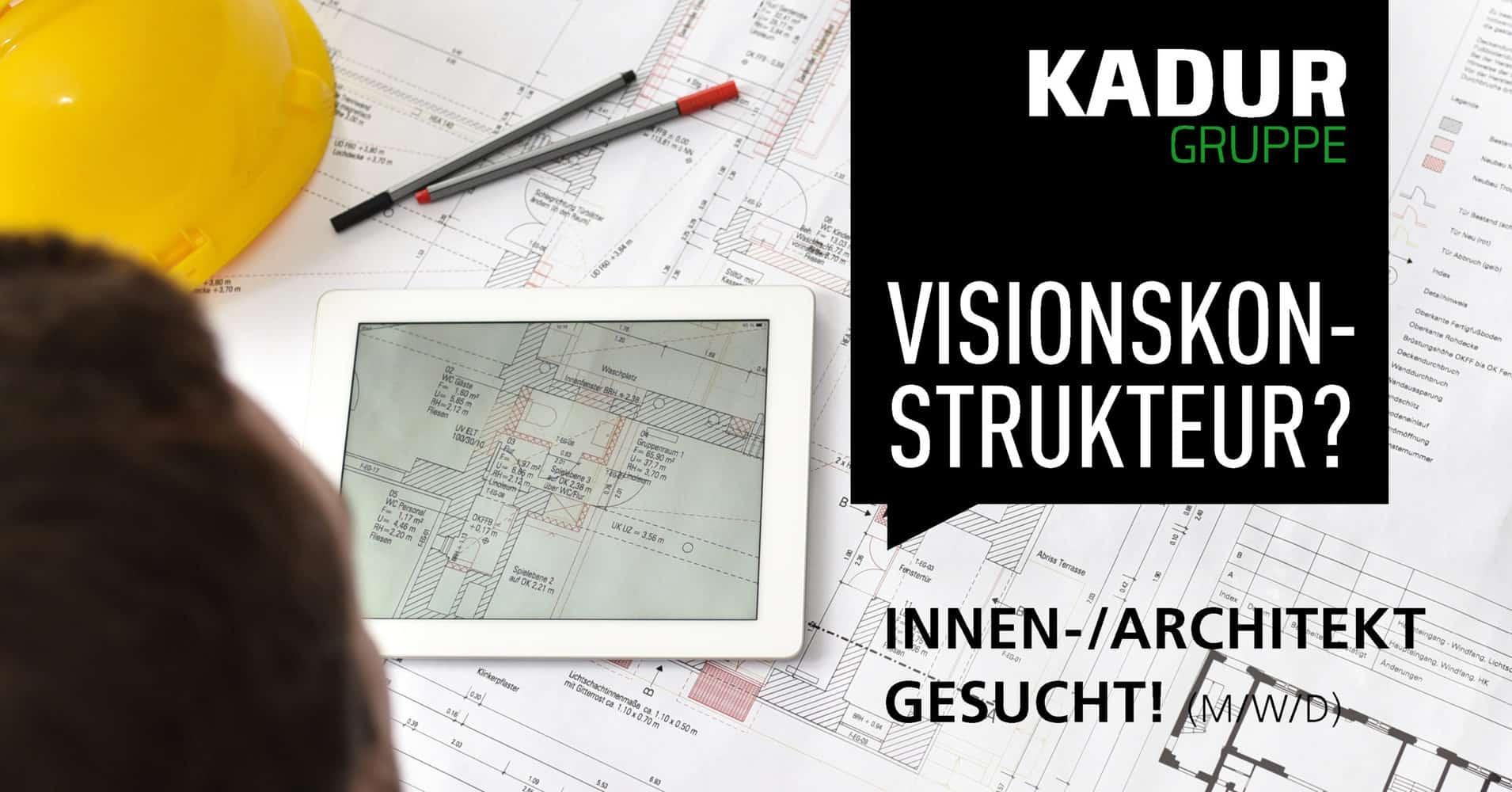 Fachkraft gesucht, Architekt, Innenarchitekt, jetzt bewerben, Festanstellung, Visionskonstrukteur, MWD