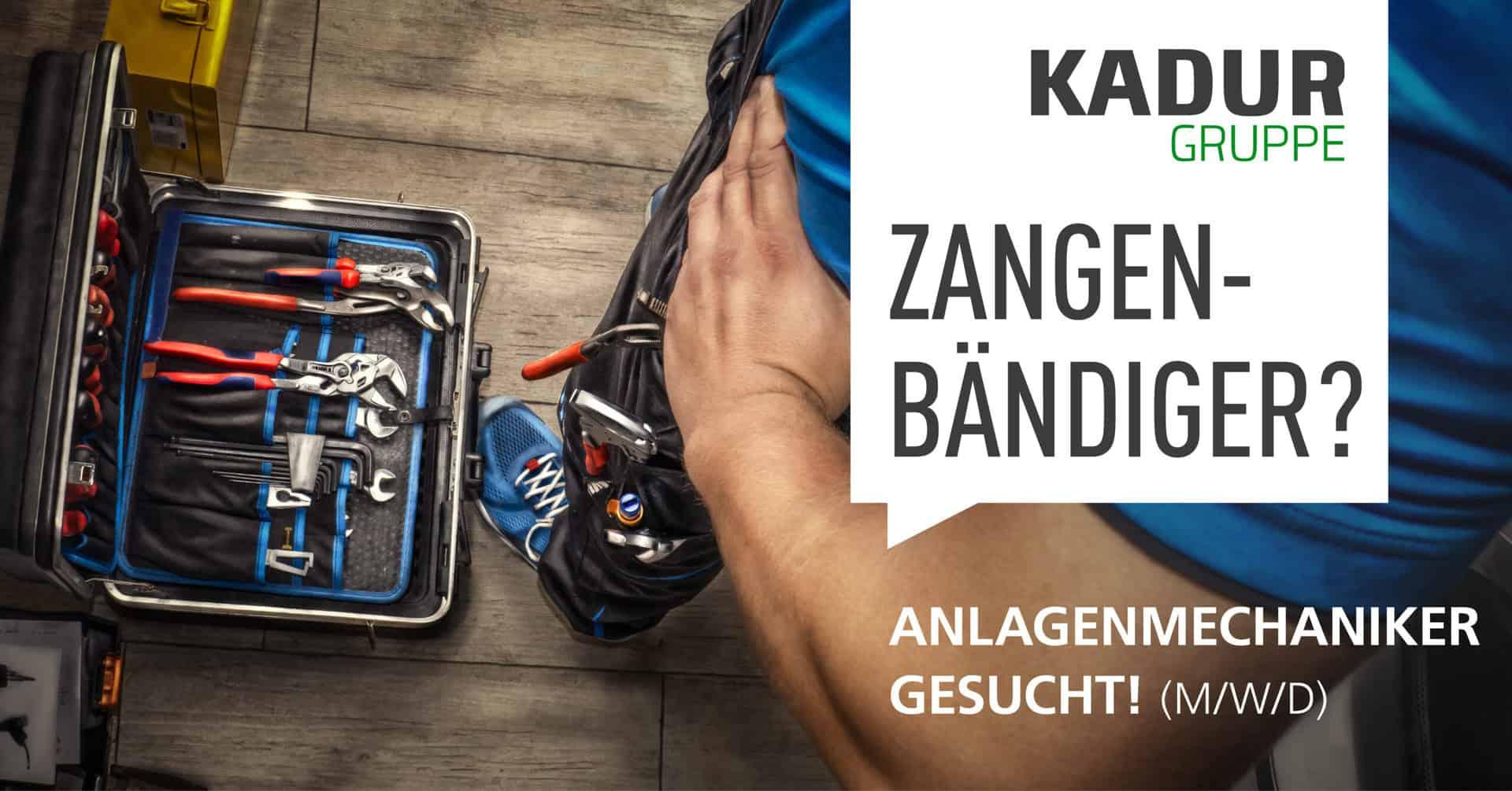KADUR Gruppe Anlagenmechaniker gesucht Dresden